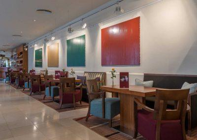 K+K Hotel Opera Budapest Bar with tables